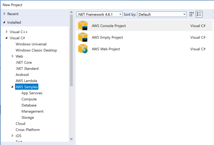 VisualStudioAWSProject